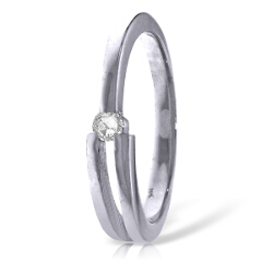 0.1 Carat 14K Solid White Gold Printemps Diamond Ring