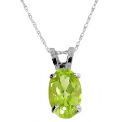 0.85 Carat Sterling Silver Necklace Natural Peridot