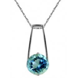 1.45 Carat Sterling Silver Meant To Be Blue Topaz Necklace
