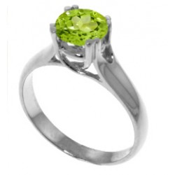 1.1 Carat Sterling Silver Solitaire Ring Natural Peridot