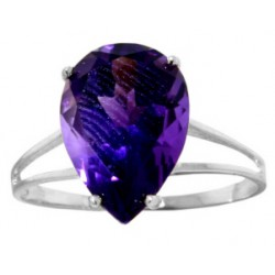 5 Carat Sterling Silver Made For Me Amethyst Ring