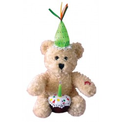 Happy Birthday Plush Cupcake Bear