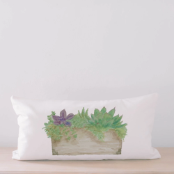Succulent Box Lumbar Pillow