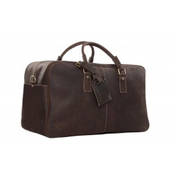 Handcrafted Antique Style Real Leather Travel Bag, Duffle Bag, Holdall Luggage Bag