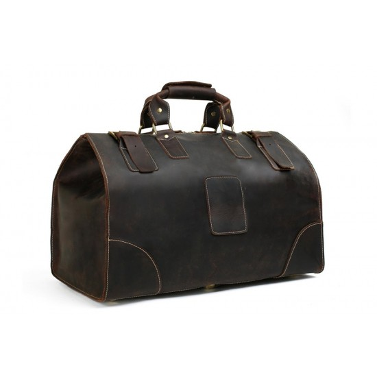 Extra Large Vintage Genuine Leather Duffle Bag, Travel Bag, Handbag