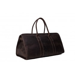 22'' Handmade Large Leather Travel Bag, Duffle Bag, Weekender Bag