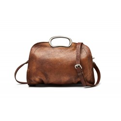 Vegetable Tanned Full Grain Leather Satchel Bag, Women Designer Handbag