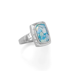 Hammered Roman Glass Ring