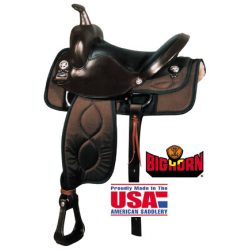 "Big Horn 17"" synthetic Saddle-A00299"