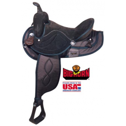 Big Horn Brown synthetic saddle-A00502