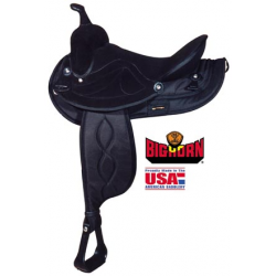 Big Horn Black synthetic saddle-A00599