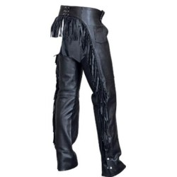 Ladies fringe back chaps by Allstate Leather