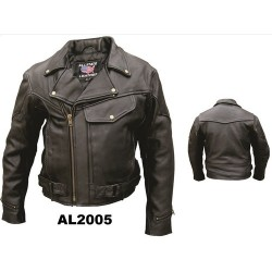 VETERANS SPECIAL!!!!! Allstate leather Men's Vented Riding Jacket 2005