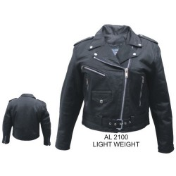 LADIES LEATHER MOTORCYCLE JACKET by Allstate leather