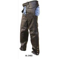 Chaps with braid by Allstate Leather