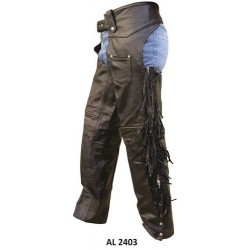 Chaps with braid and fringe by allstate