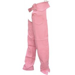 LADIES PINK PLAIN CHAPS by Allstate Leather