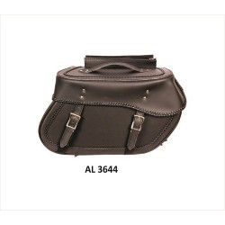 Large Braided throw-over PVC Saddle Bag by Allstate
