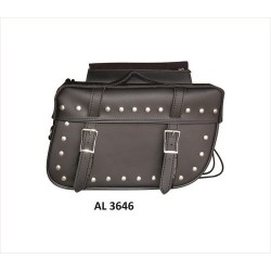 PVC, Throw over Studded Saddle bags by Allstate