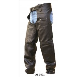 Plain lined chaps with in Premium Buffalo Leather by Allstate Leather