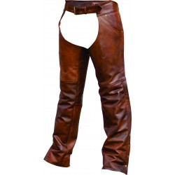 Plain lined Cafe Brown Chaps by Allstate