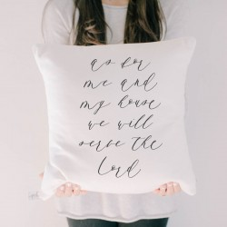 As For Me and My House Verse Pillow