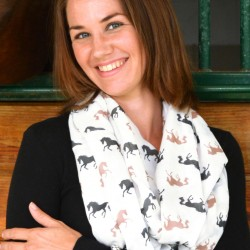 """Lila"" Silhouette Horses Infinity Scarf"