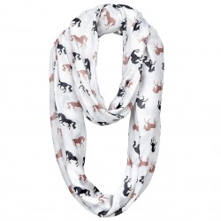 """""""Lila"""" Silhouette Horses Infinity Scarf"""