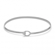 Wire Bangle with Bead Ends