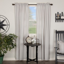 ANNIE BUFFALO CHECK PANEL CURTAIN SET 84X40