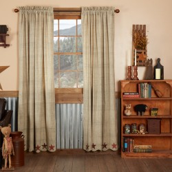 ABILENE STAR PANEL CURTAIN SET OF 2 84X40