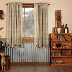 ABILENE STAR SHORT PANEL CURTAIN SET OF 2 63X36