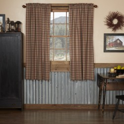 CROSSWOODS SHORT PANEL CURTAIN SET OF 2 63X36