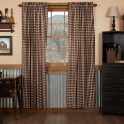 BINGHAM STAR PANEL CURTAIN PLAID SET OF 2 84X40