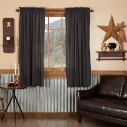 ARLINGTON SHORT PANEL CURTAIN SCALLOPED SET OF 2 63X36