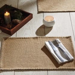 NOWELL NATURAL PLACEMAT SET OF 6 12X18