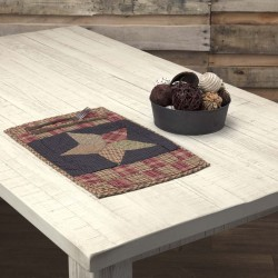 ARLINGTON PLACEMAT QUILTED PATCHWORK STAR SET OF 6 12X18