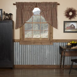 CROSSWOODS PRAIRIE SWAG CURTAIN SET OF 2 36X36X18