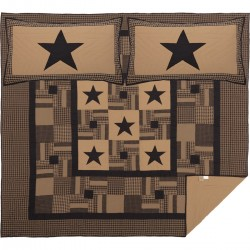 BLACK CHECK STAR QUILT