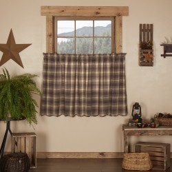 DAWSON STAR SCALLOPED TIER CURTAIN SET OF 2