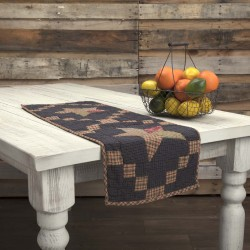 ARLINGTON RUNNER QUILTED PATCHWORK STAR 13X36